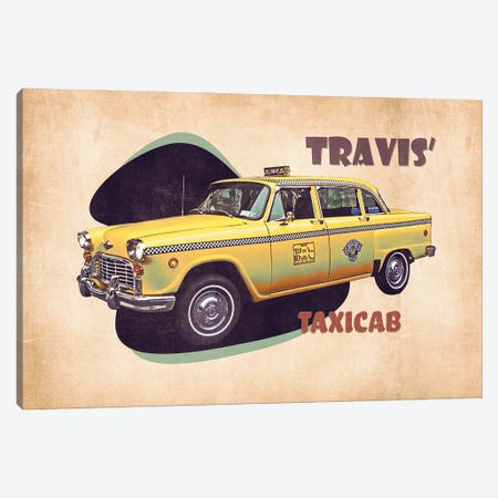 Travis' Taxicab Canvas Print #PCP192} by Pop Cult Posters Canvas Art Print