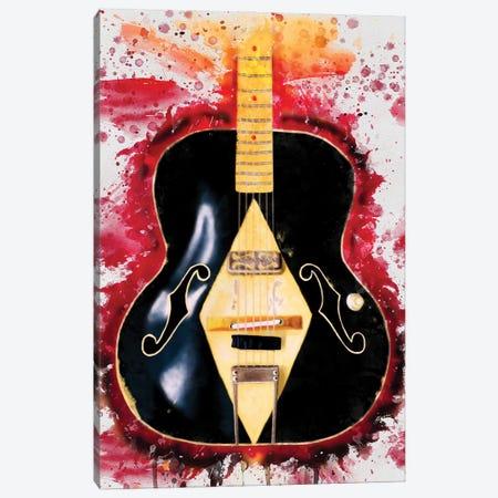 Bob Log III Electric Guitar Canvas Print #PCP194} by Pop Cult Posters Canvas Art