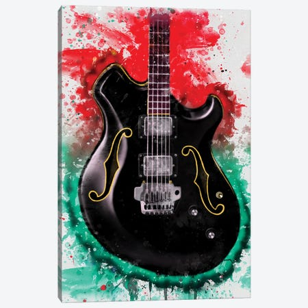 Wes Borland's Electric Guitar Canvas Print #PCP195} by Pop Cult Posters Canvas Artwork