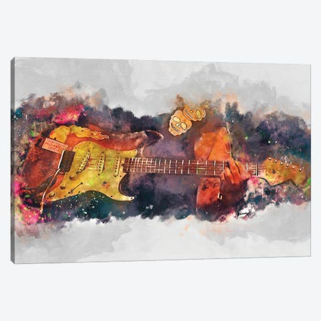 Popa Chubby's Guitar Canvas Print #PCP196} by Pop Cult Posters Canvas Wall Art