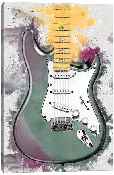 John Mayer's Lunar Ice Electric Guitar Canvas Art Print