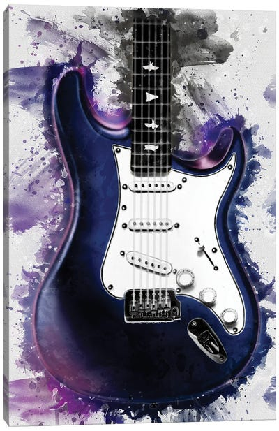 John Mayer's Nebula Electric Guitar Canvas Art Print