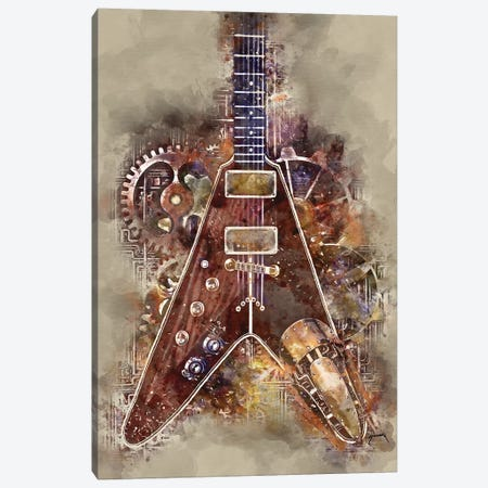 Albert King's Steampunk Guitar Canvas Print #PCP1} by Pop Cult Posters Canvas Wall Art