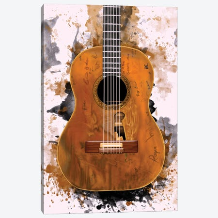 """Willie Nelson's """"Trigger"""" Acoustic Guitar Canvas Print #PCP200} by Pop Cult Posters Canvas Print"""