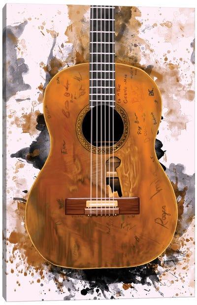 "Willie Nelson's ""Trigger"" Acoustic Guitar Canvas Art Print"