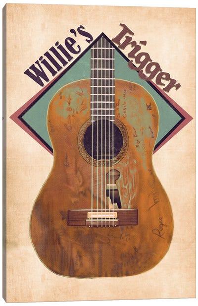 Willie Nelson's Trigger Retro Canvas Art Print