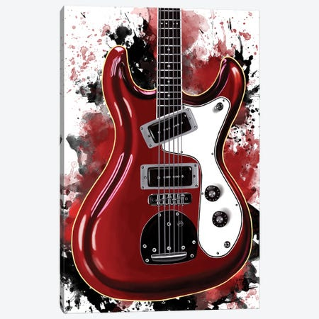 Don Wilson's Electric Guitar Canvas Print #PCP203} by Pop Cult Posters Canvas Print