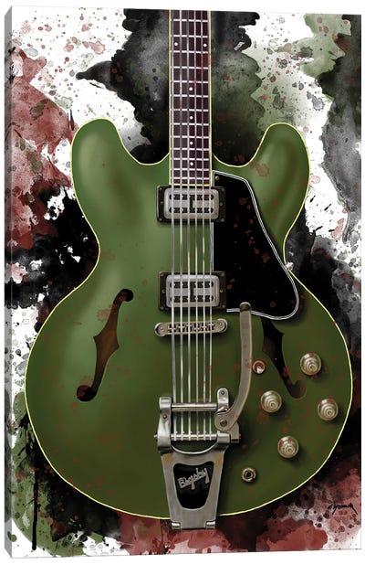 Chris Cornell's Electric Guitar Canvas Art Print