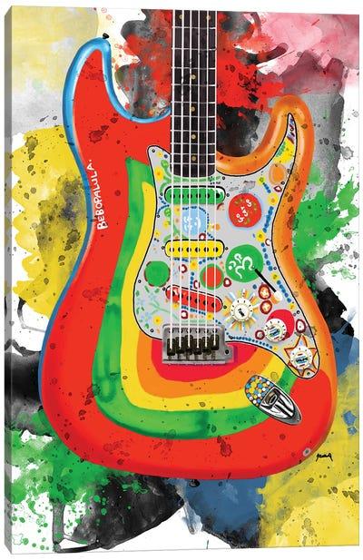 George Harrison's Rocky Guitrar Canvas Art Print