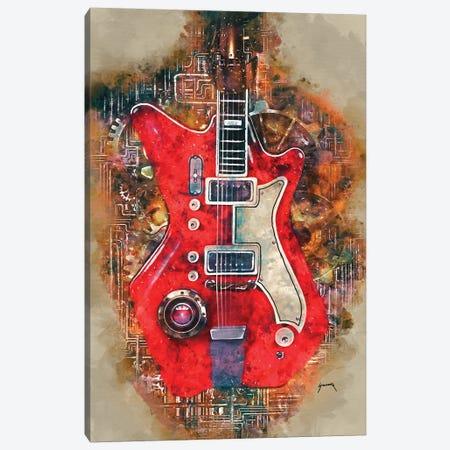Jack White's Steampunk Guitar Canvas Print #PCP20} by Pop Cult Posters Canvas Art Print
