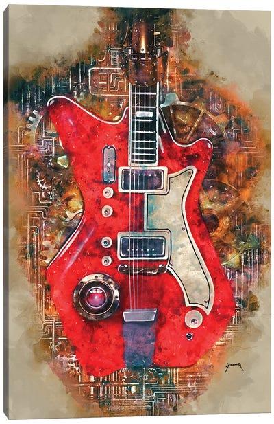 Jack White's Steampunk Guitar Canvas Art Print