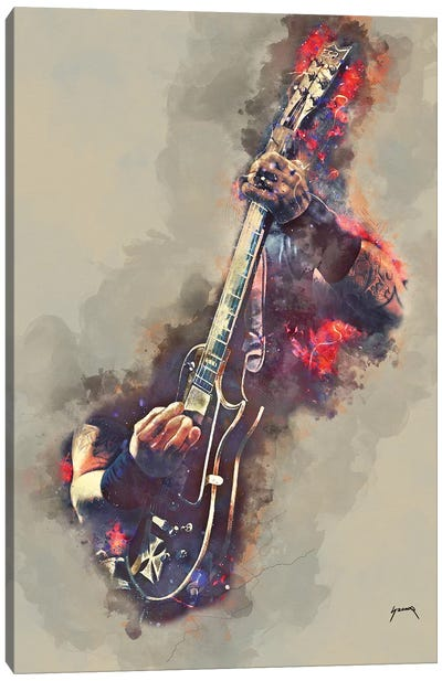 James Hetfield's Electric Guitar Canvas Art Print