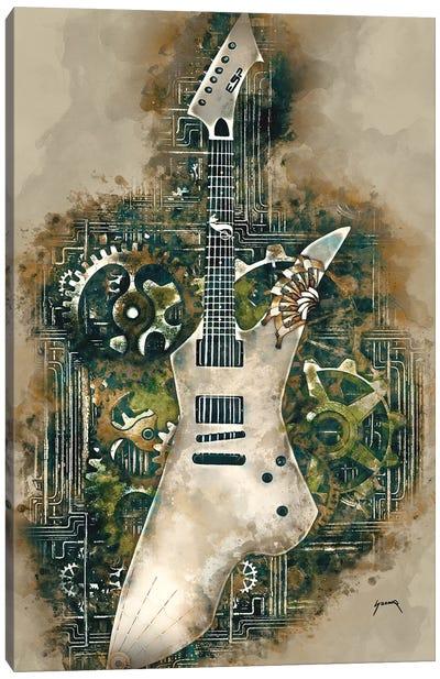 James Hetfield's Steampunk Snakebyte Guitar Canvas Art Print