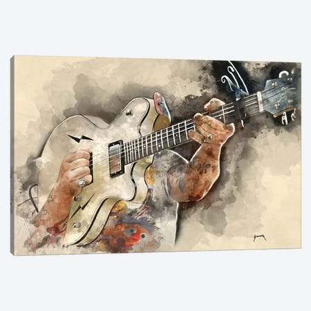 Jesse Hughes Electric Guitar Canvas Print #PCP25} by Pop Cult Posters Canvas Art