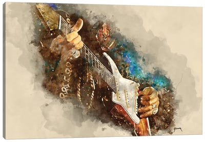 Jimi's Electric Guitar Canvas Art Print