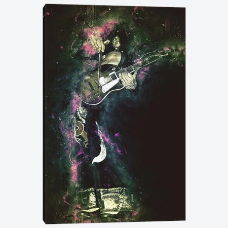 Jimmy Page's Caricature Canvas Print #PCP27} by Pop Cult Posters Canvas Wall Art