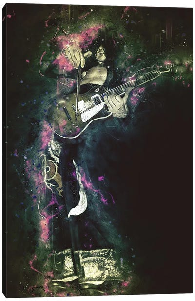 Jimmy Page's Caricature Canvas Art Print