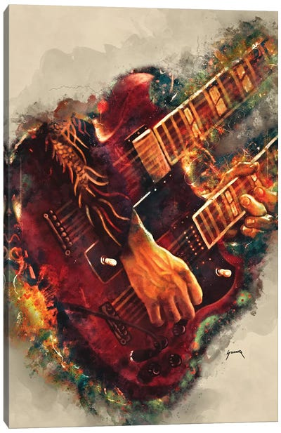 Jimmy Page's Electric Guitar Canvas Art Print