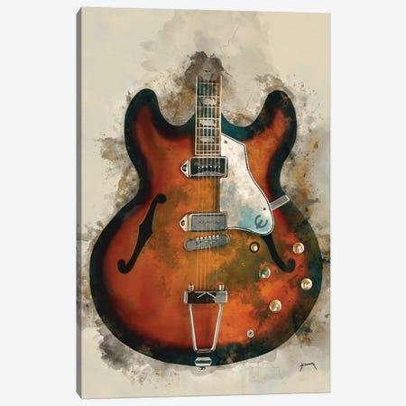 John Lennon's Guitar Canvas Print #PCP31} by Pop Cult Posters Canvas Wall Art