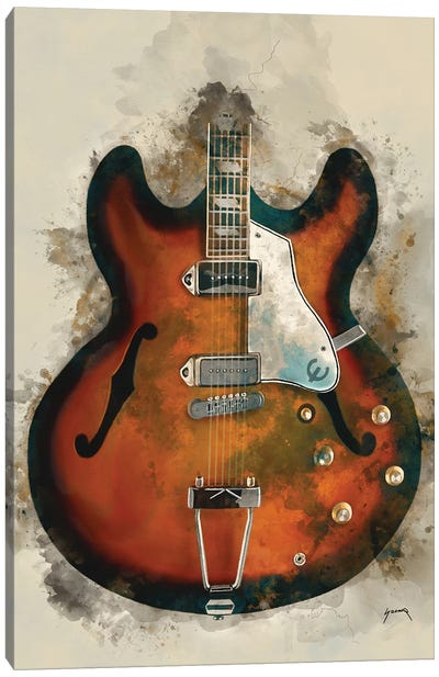 John Lennon's Guitar Canvas Art Print