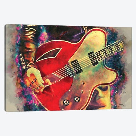Josh Homme's Electric Guitar Canvas Print #PCP32} by Pop Cult Posters Canvas Art