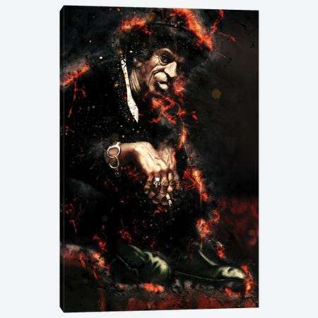Keith Richards's Caricature Canvas Print #PCP33} by Pop Cult Posters Canvas Artwork