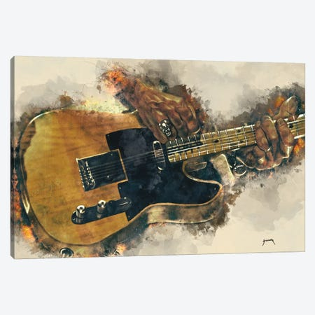 Keith Richards's Electric Guitar Canvas Print #PCP34} by Pop Cult Posters Canvas Print
