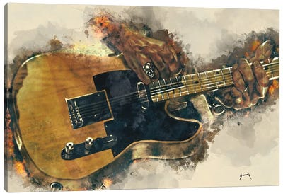 Keith Richards's Electric Guitar Canvas Art Print