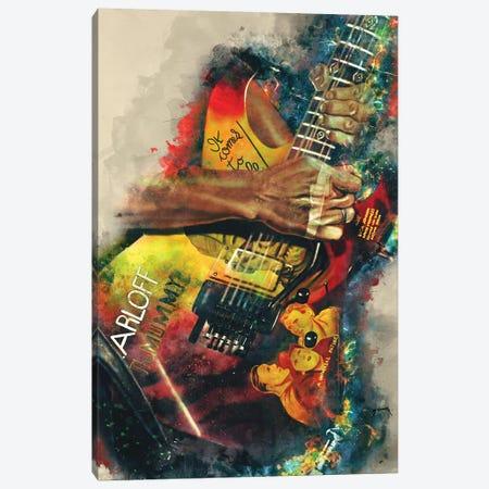 Kirk Hammett's Electric Guitar Canvas Print #PCP36} by Pop Cult Posters Canvas Print