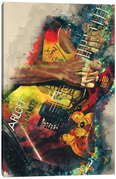 Kirk Hammett's Electric Guitar Canvas Art Print