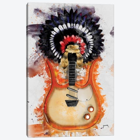 Link Wray's Guitar II Canvas Print #PCP39} by Pop Cult Posters Canvas Art