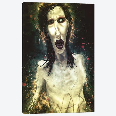 Marilyn Manson's Caricature Canvas Print #PCP41} by Pop Cult Posters Art Print