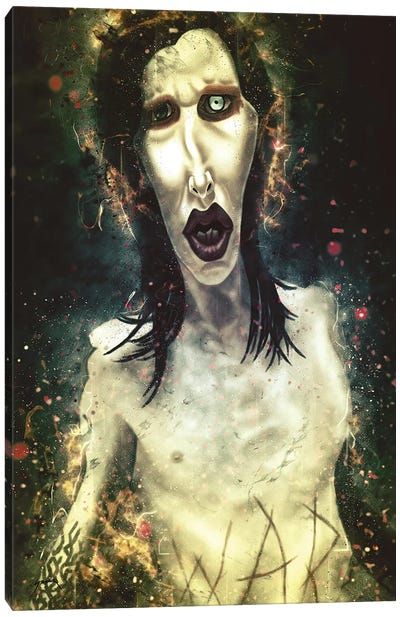 Marilyn Manson's Caricature Canvas Art Print