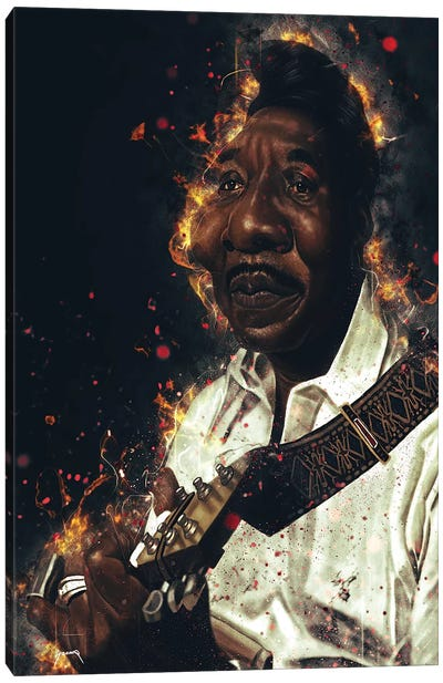 Muddy Waters's Caricature Canvas Art Print