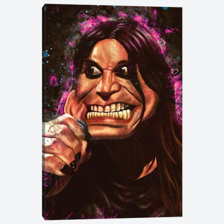 Ozzy's Caricature Canvas Print #PCP43} by Pop Cult Posters Canvas Print