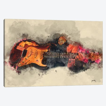Popa Chubby's Electric Guitar Canvas Print #PCP44} by Pop Cult Posters Canvas Artwork