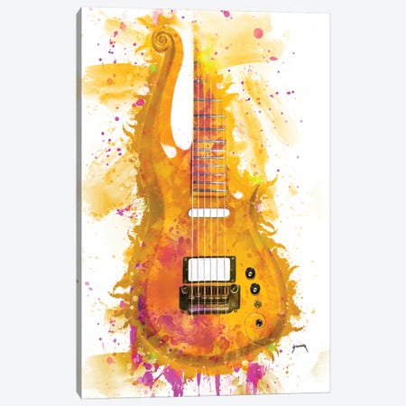 Prince's Cloud Guitar I Canvas Print #PCP45} by Pop Cult Posters Canvas Wall Art