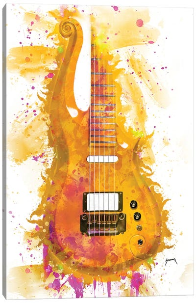 Prince's Cloud Guitar I Canvas Art Print