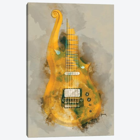 Prince's Cloud Guitar II Canvas Print #PCP46} by Pop Cult Posters Canvas Art