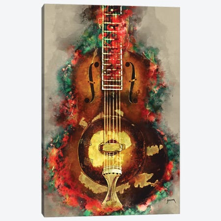 Rory Gallagher's Guitar Canvas Print #PCP47} by Pop Cult Posters Canvas Wall Art