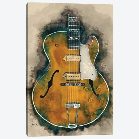 Scotty Moore's Guitar Canvas Print #PCP48} by Pop Cult Posters Canvas Art Print