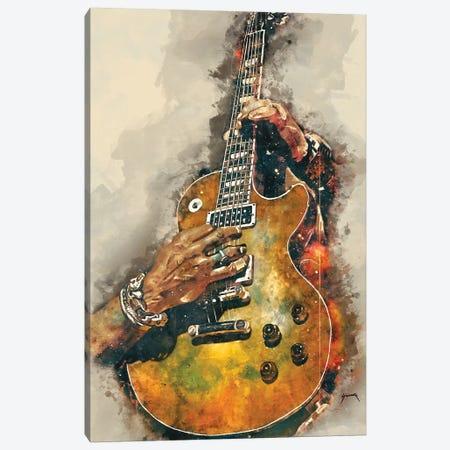 Slash's Electric Guitar Canvas Print #PCP49} by Pop Cult Posters Canvas Print