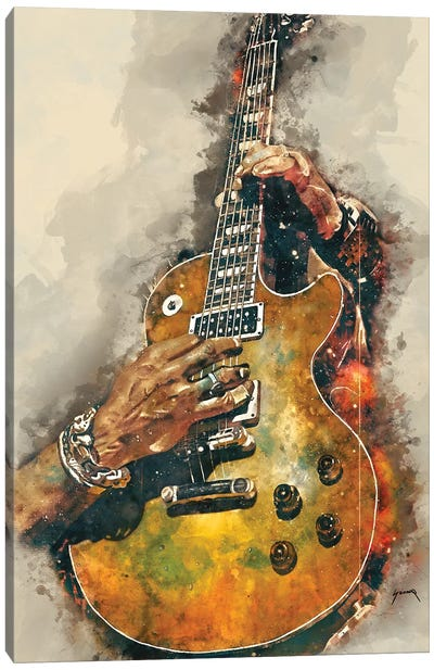 Slash's Electric Guitar Canvas Art Print