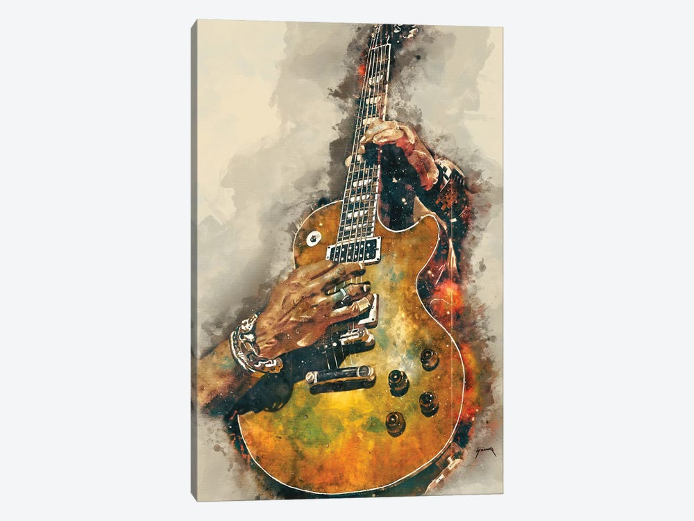 Slash's Electric Guitar by Pop Cult Posters 1-piece Canvas Wall Art