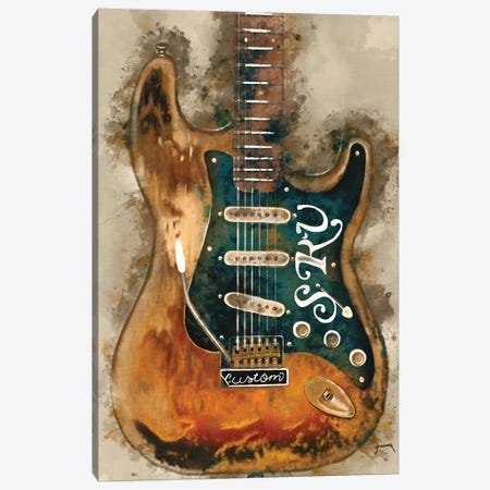 Stevie Ray Vaughan's Guitar Canvas Print #PCP51} by Pop Cult Posters Canvas Wall Art