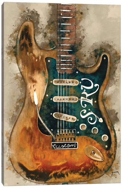 Stevie Ray Vaughan's Guitar Canvas Art Print
