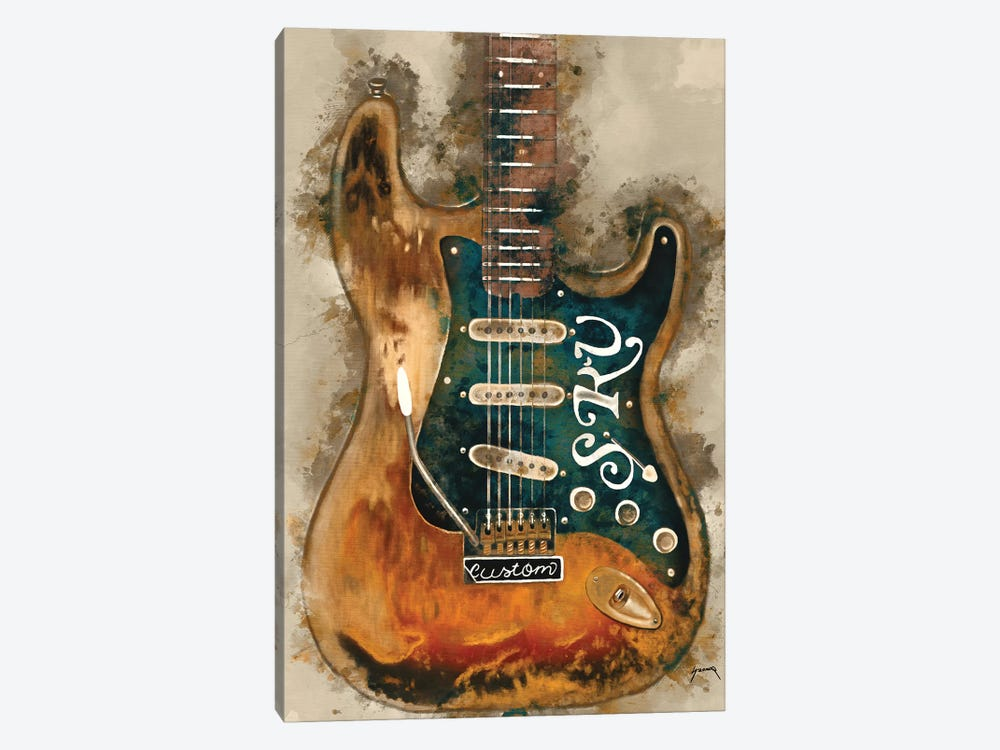 Stevie Ray Vaughan's Guitar by Pop Cult Posters 1-piece Art Print