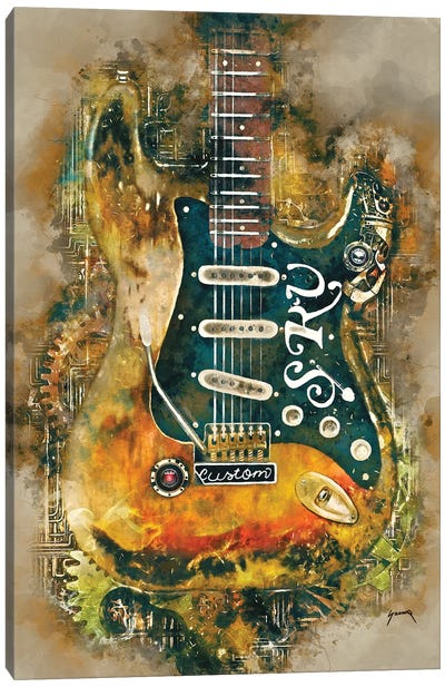Stevie Ray's Steampunk Guitar Canvas Art Print