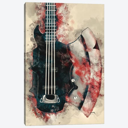 The Demon's Bass Axe Canvas Print #PCP53} by Pop Cult Posters Canvas Artwork