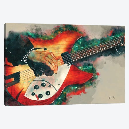 Tom Petty's Electric Guitar Canvas Print #PCP55} by Pop Cult Posters Art Print